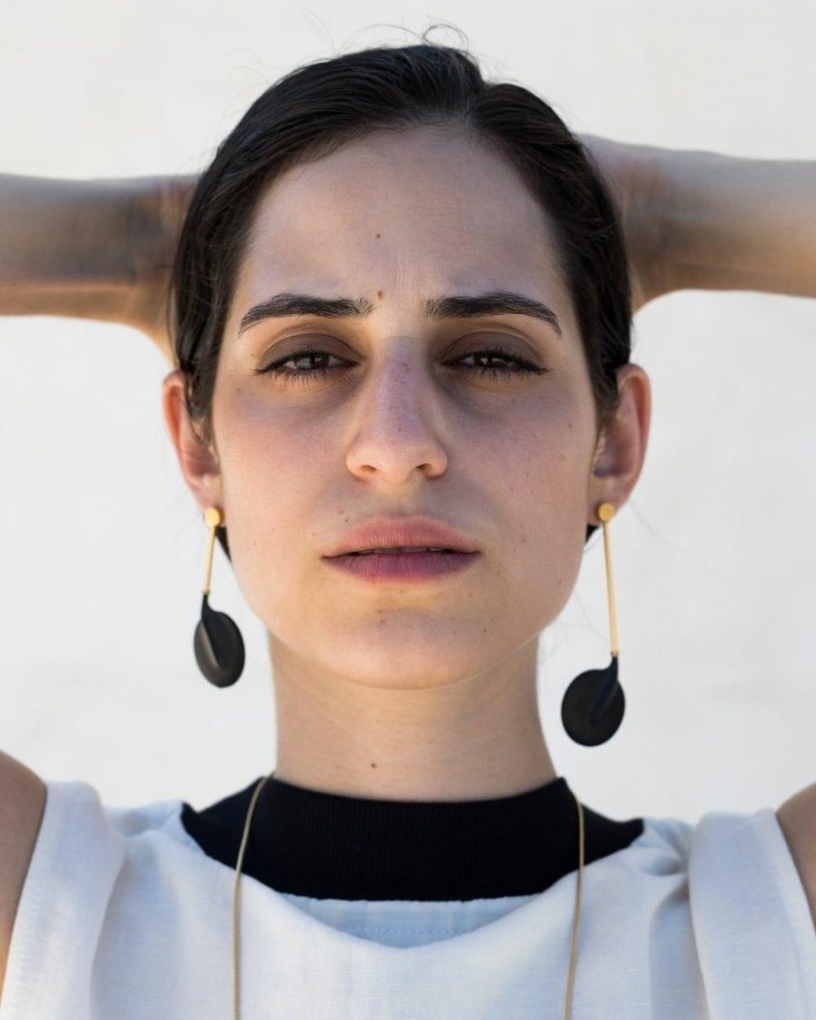 Hanged Moon Gold Earrings