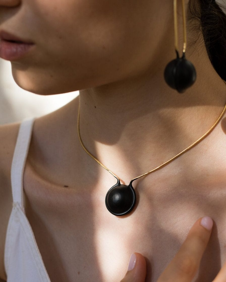 Globe Choker Gold Necklace