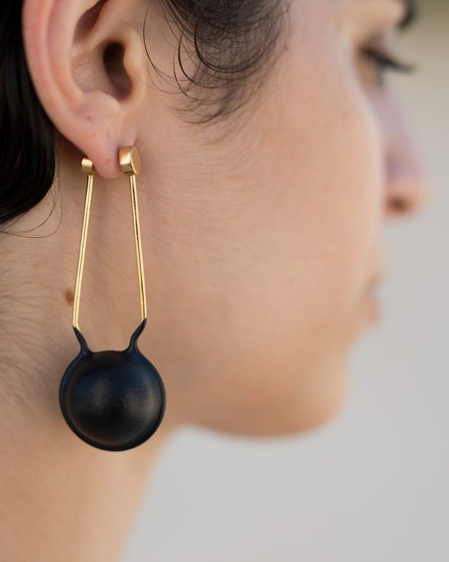 Large Globe Gold Earrings