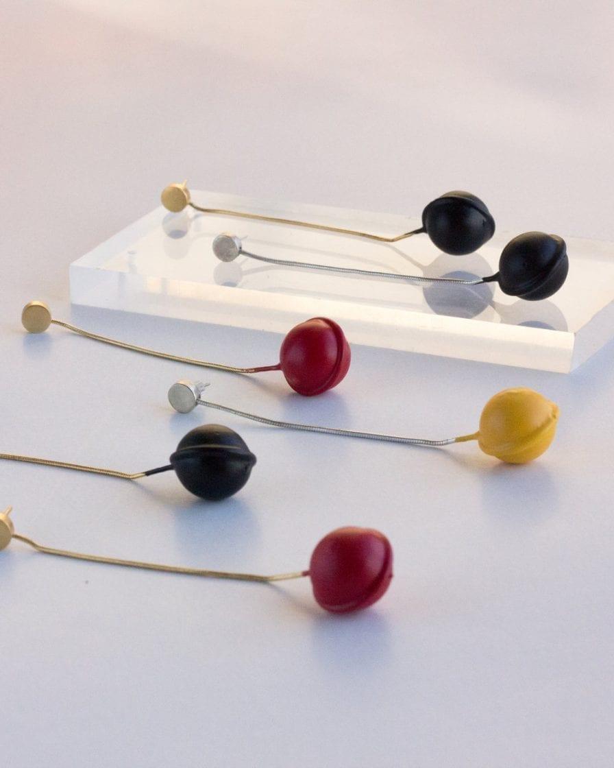 Hanged Globe Gold Earrings