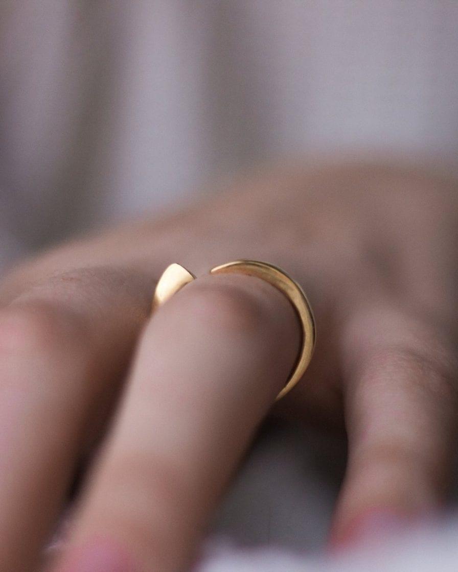 Geometric Gold Ring