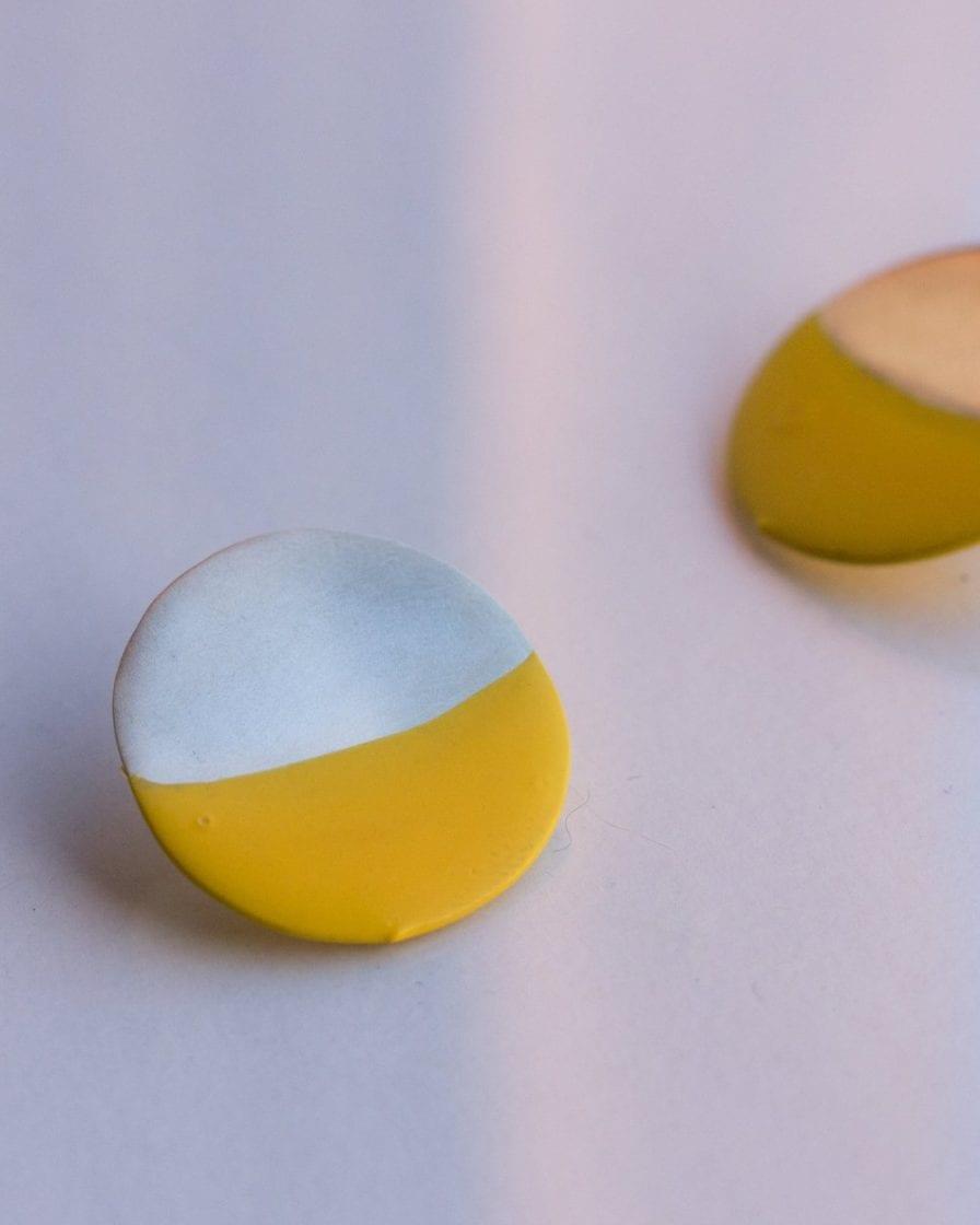 Small Moon Silver Earrings
