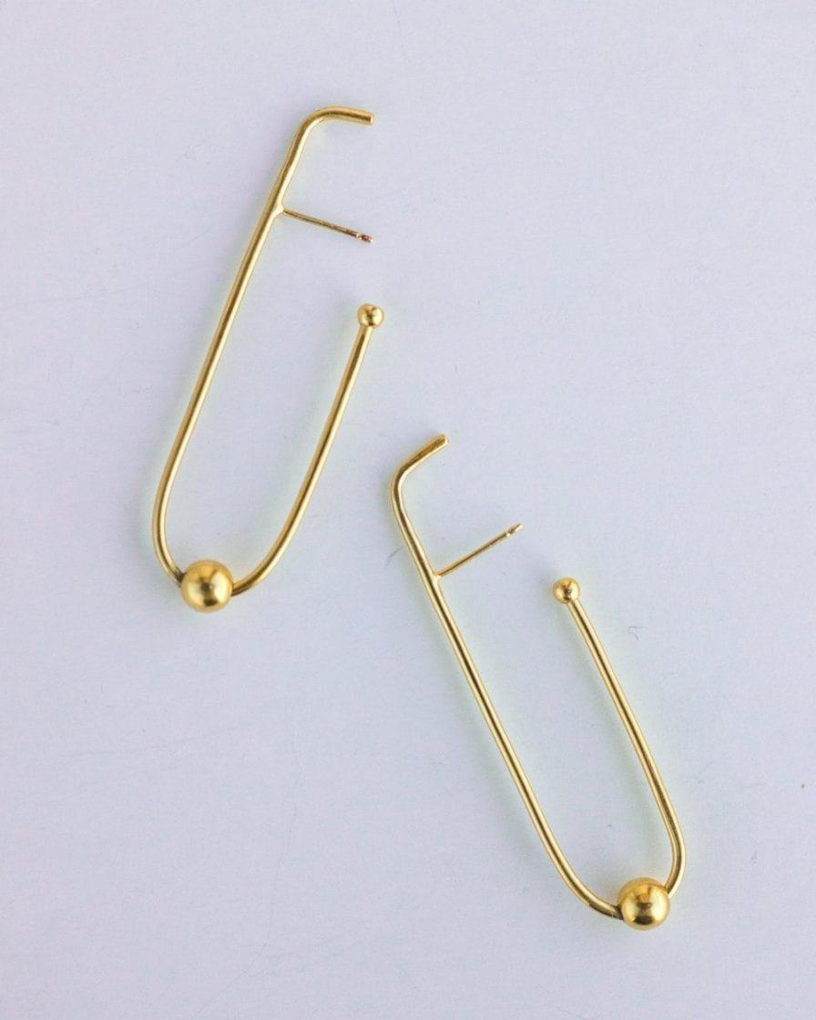 Milky Way Gold Earrings