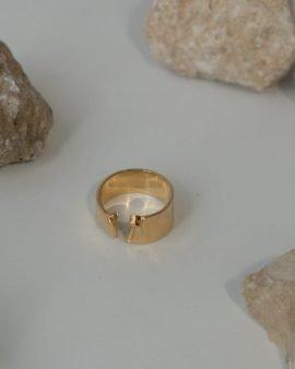 טבעת סולפרה זהב 14K