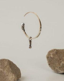 Gypsy Argon Silver Earring