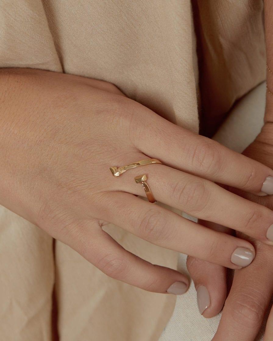 טבעת מרקורי זהב