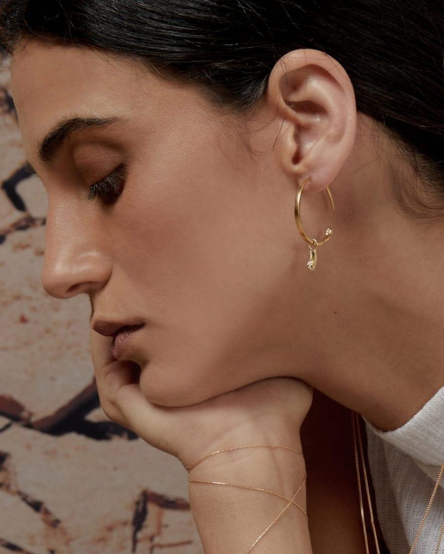 Gypsy Argon Gold Earring