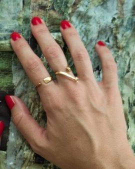 טבעת מרקורי זהב 9K