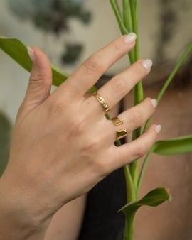 טבעת סולפרה זהב 9K