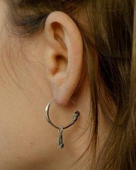 Mini Gypsy Argon Silver Earring