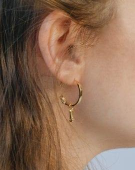 Mini Gypsy Argon Gold Earring
