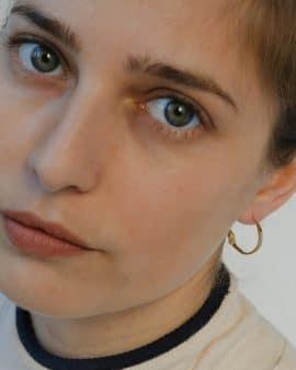 Mini Gypsy 14K Gold Earring