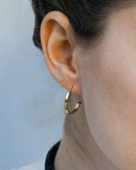 Mini Gypsy Gold Earring